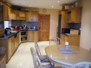kitchen of ballybeg holiday rental