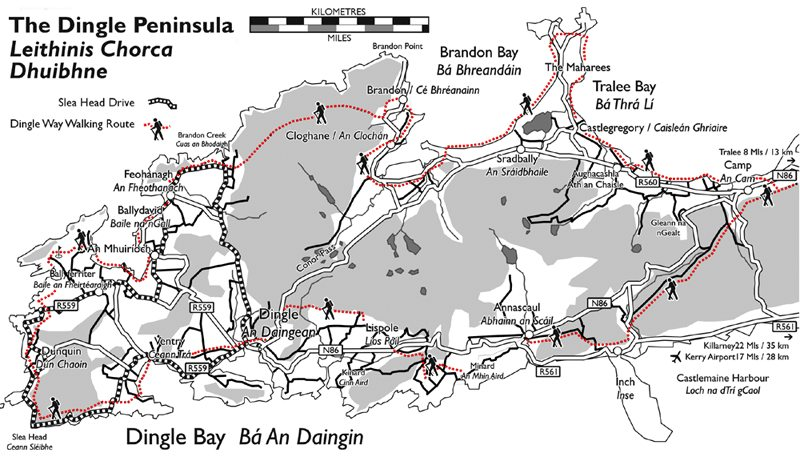 dingle way map
