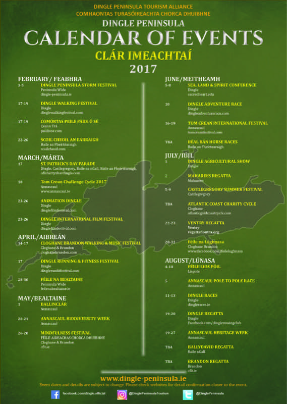 calendar of events for 2017